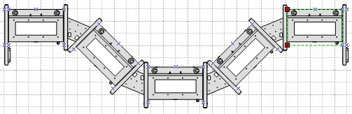 Modular enclosure system in plan view