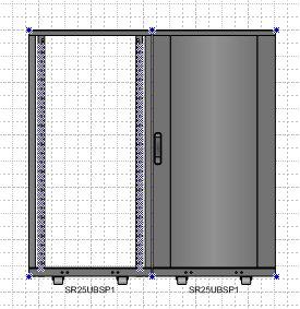 Sample drawing with 2 equipment racks