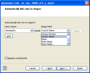 Automatically link data to MapShapes in Visio 2007