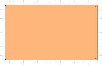 Visio rectangles with edges created as trapezoids