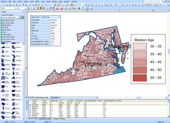 Creating Maps In Visio More Effectively With MapShapes